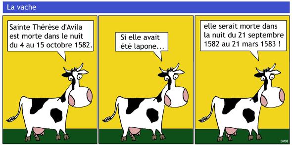 Le blog notes math matique du coyote - Vache dessin humour ...