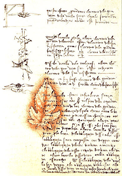 L 39 criture de lonard de vinci for Ecriture miroir